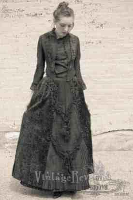 1880s dress details