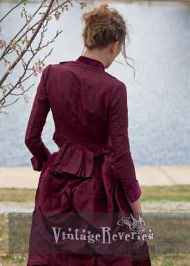 1800s elaborate bustle dress