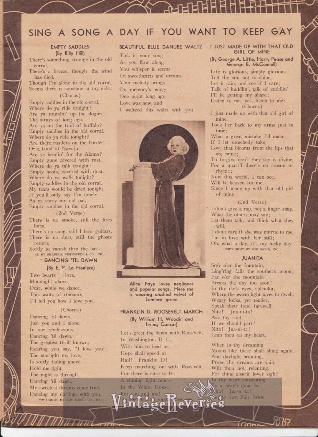 Alice Faye singer 1930s