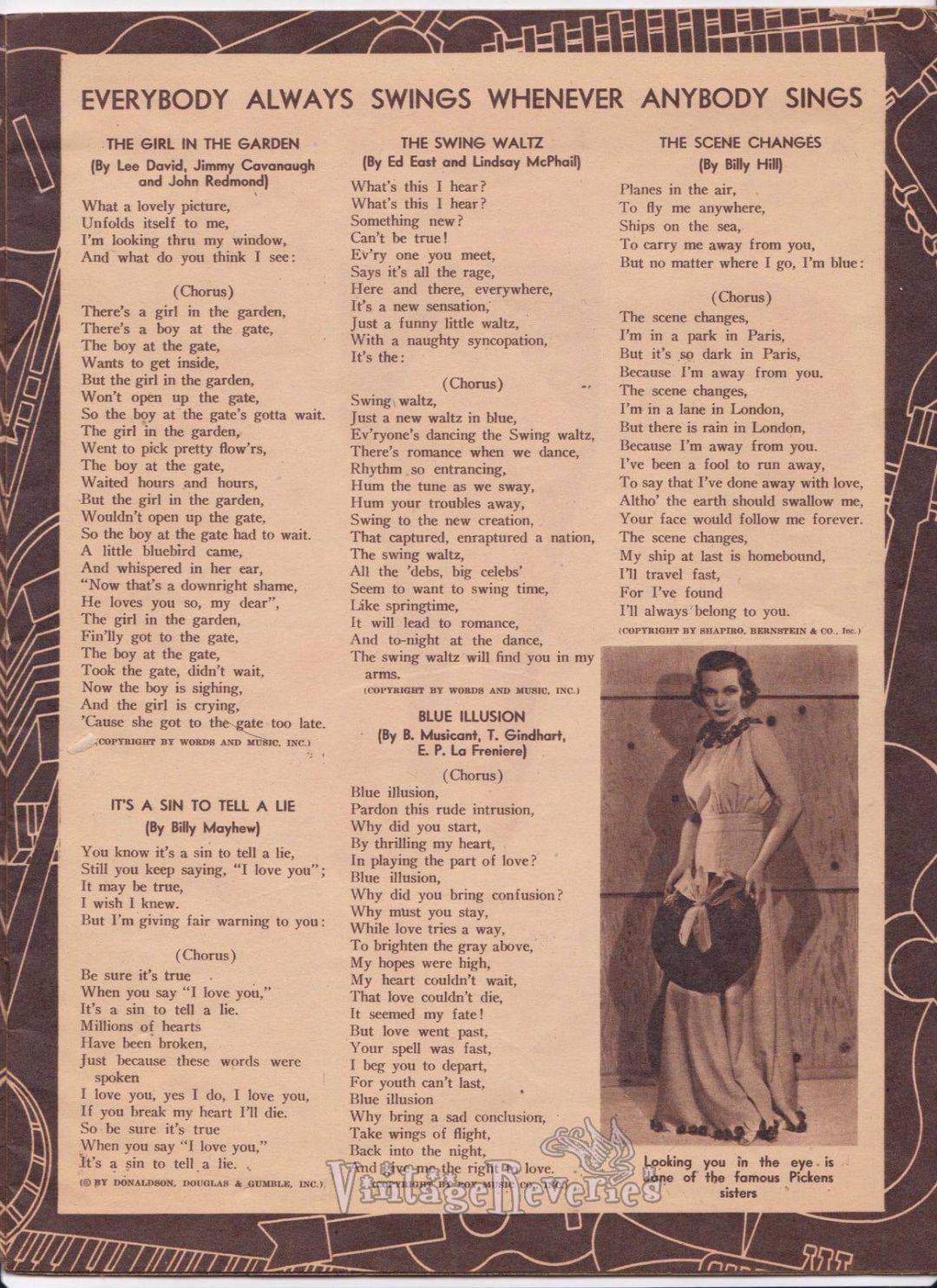 1930s pop song lyrics
