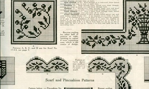 Edwardian Filet Crochet Pattern from 1917
