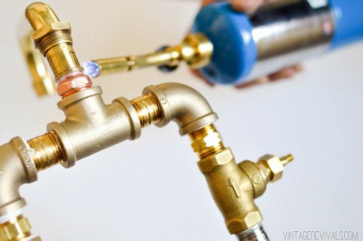 diy brass bridge faucet vintage revivals