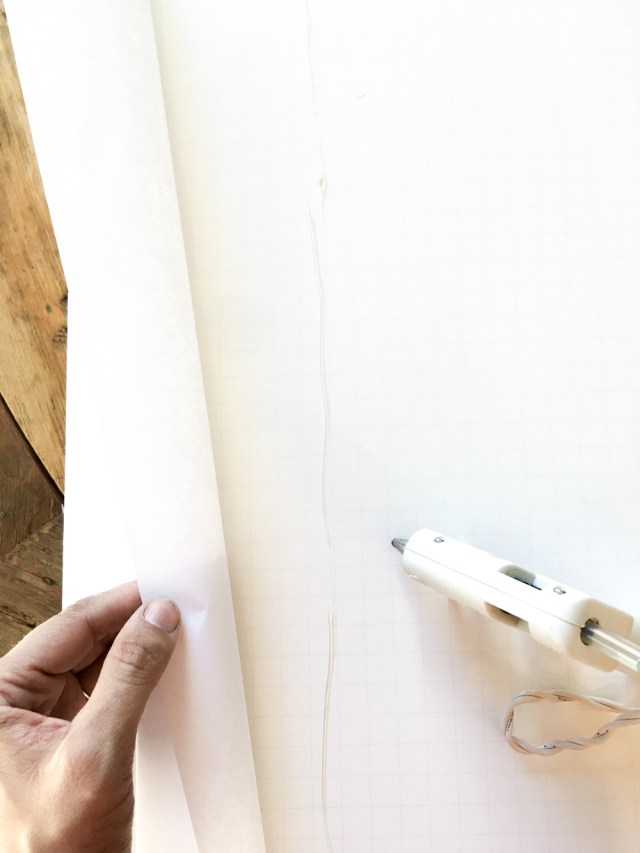 Mounting A Print to Posterboard using a Hot Glue Gun