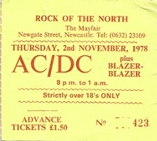 AC/DC at Newcastle Mayfair 1977 to 1980 (4/6)