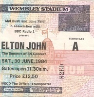 Elton John Wembley Stadium Summer of 84 concert (1/3)