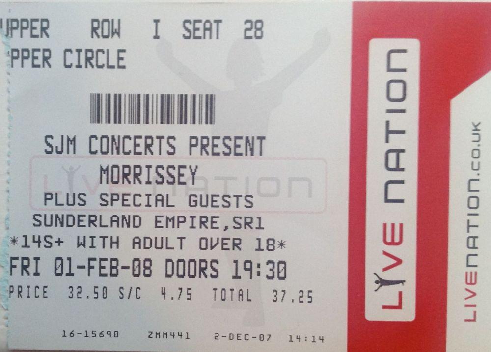 Morrissey Newcastle 2004 & 2006, & Sunderland 2008 (4/4)