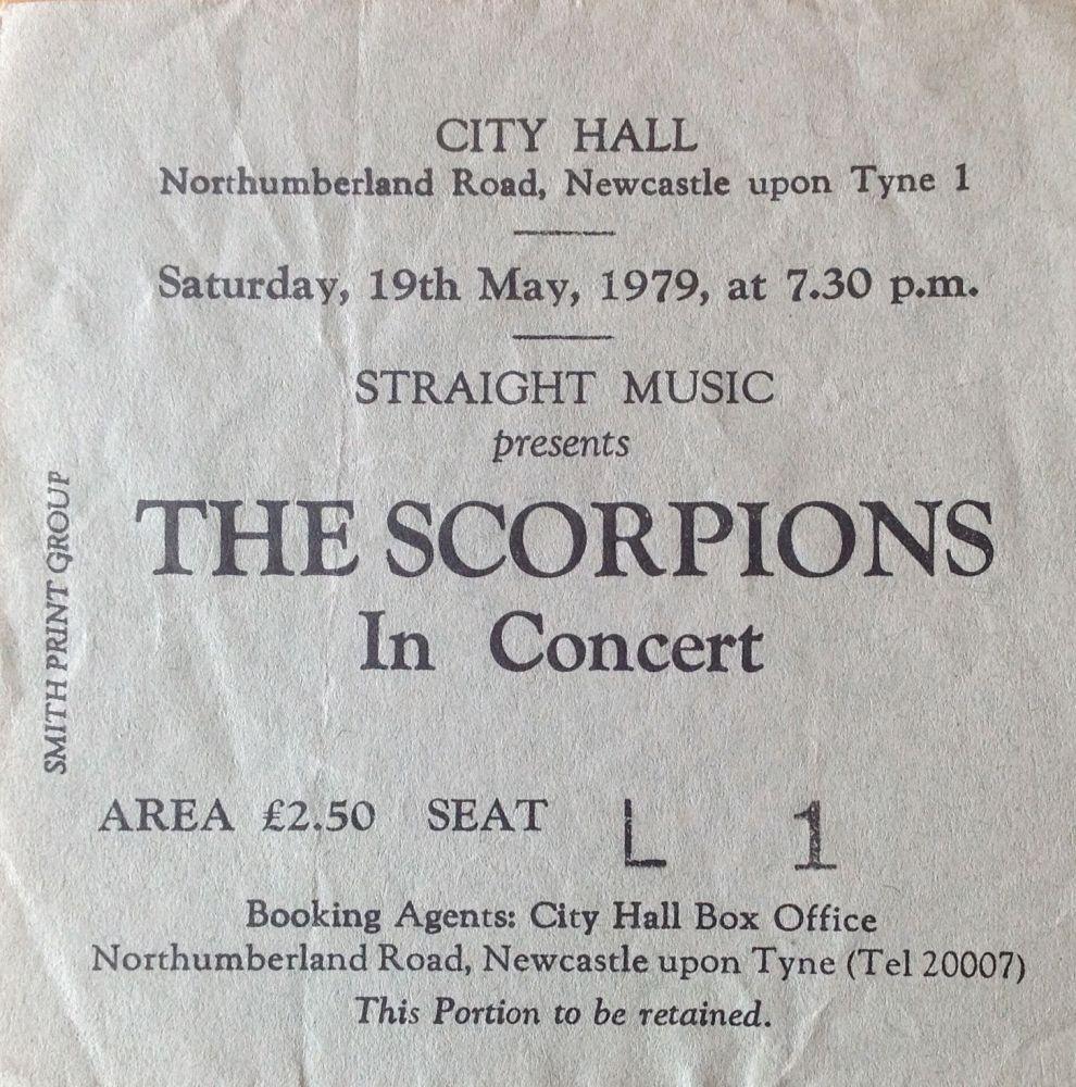 Scorpions Newcastle City Hall 19th May 1979