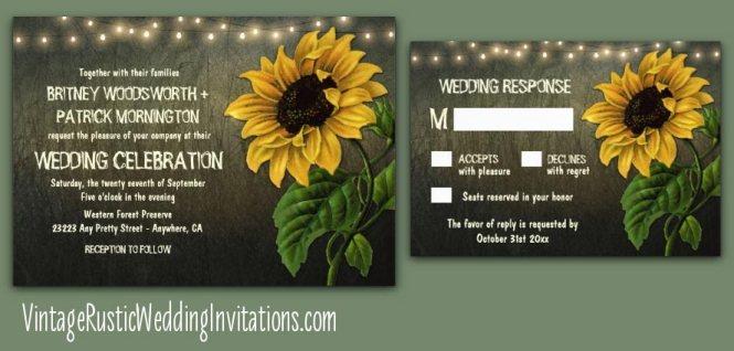 Sunflower Wedding Invitation Pocketfold Set Mason Jar Kit Lemon Drop Cobalt Blue Accommodation Rsvp Reception Card