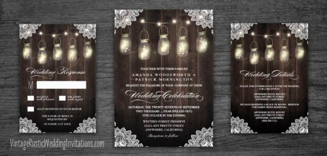 Rustic Wedding Invitation Ideas