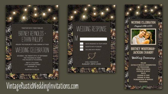 Faded Camo Wedding Invitation Camouflage Invitations Country Hunter