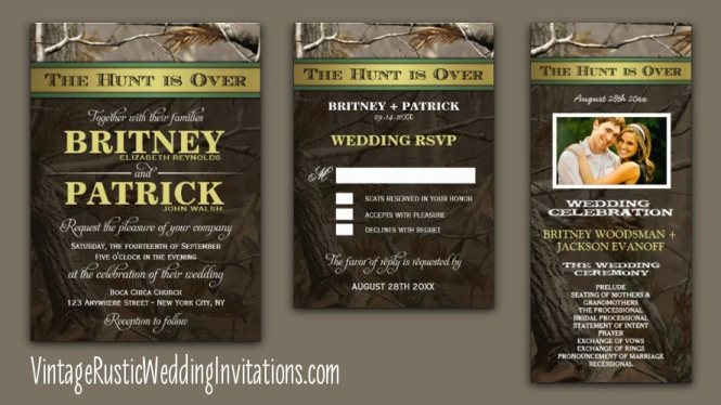 Camo Wedding Invitations With A Wide Range Of Colors And
