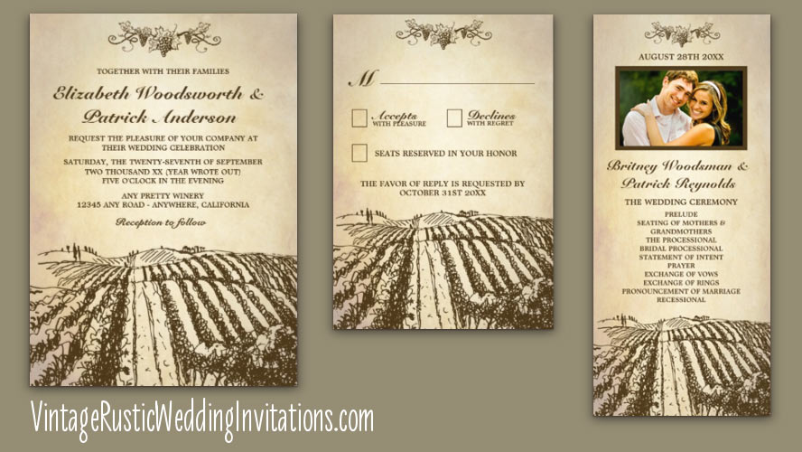 Rustic Chalkboard Wedding Invitations