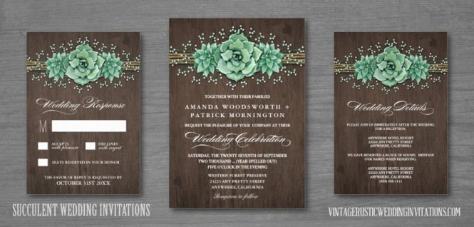 Rustic Barn Wood Country Love Wedding Invitations