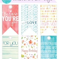Watercolor Gift Tags {freebies}