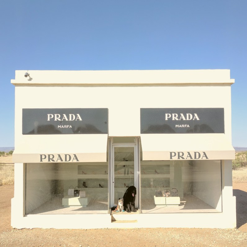 Dodge and Ky at Prada Marfa