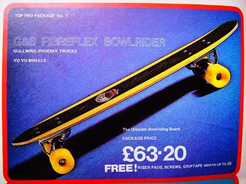 G&S skateboard decks G&S Fibreflex Bowlrider | VintageSkateboard.net