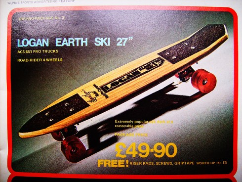 Logan Earth Ski classic oak skateboard deck