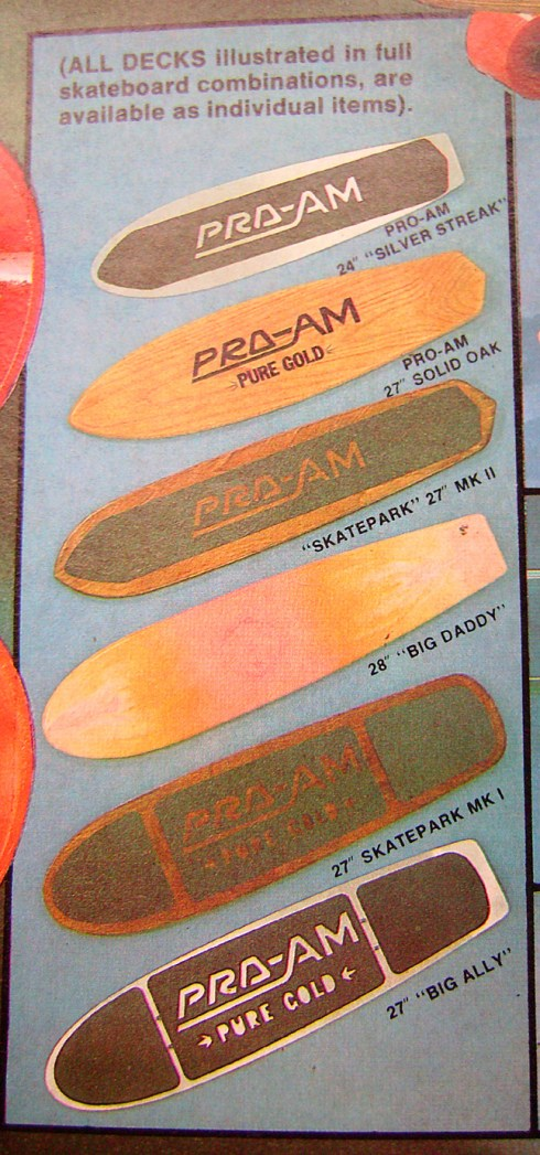 Pro Am skateboard decks