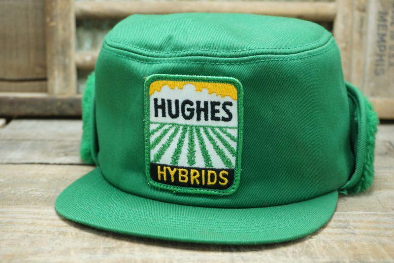 VINTAGE HUGHES HYBRIDS SNAPBACK TRUCKER HAT