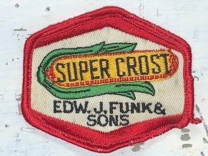 Vintage Super Crost Seeds EDW. J. Funk & Sons Patch