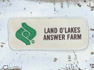 Vintage Land O'Lakes Answer Farm Patch