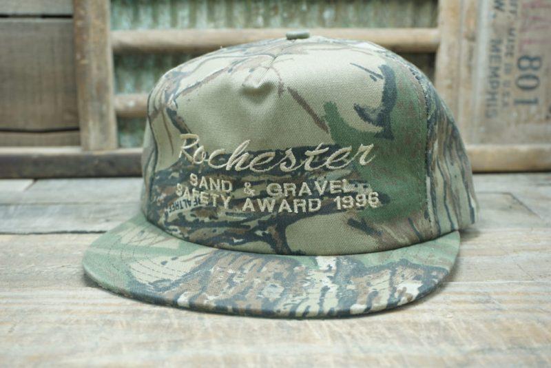 Vintage Rochester Sand & Gravel 1996 Snapback Trucker Hat Cap