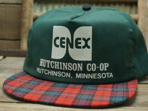 Cenex Hutchinson CO-OP Plaid Vintage Hat