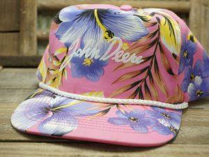 John Deere Pink Floral Hat