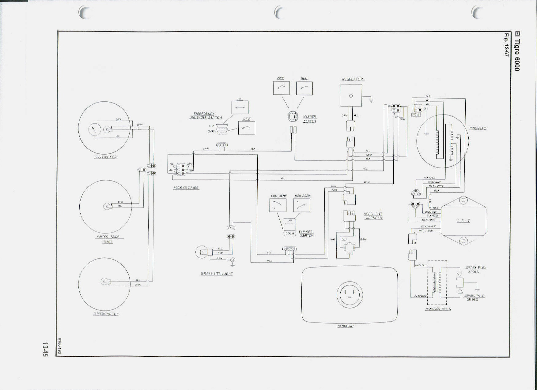 Yamaha Enticer 340 Wiring