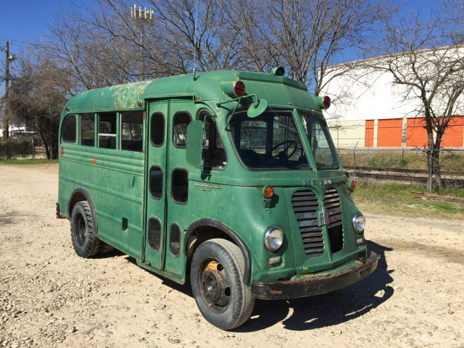 1960 IH Metro Van Gillig Bros. Conversion Coach Bus