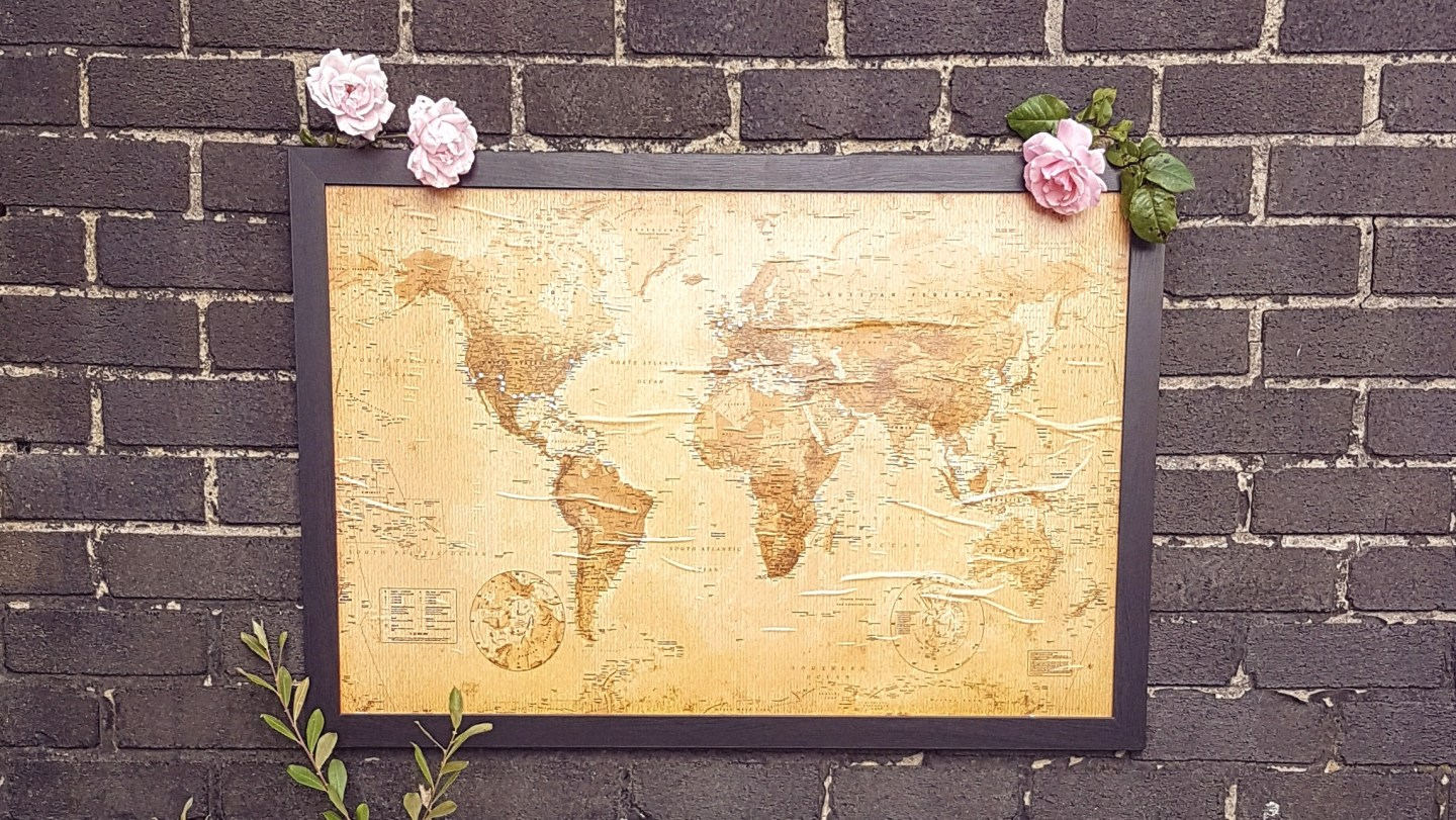 DIY: Cork Board Map