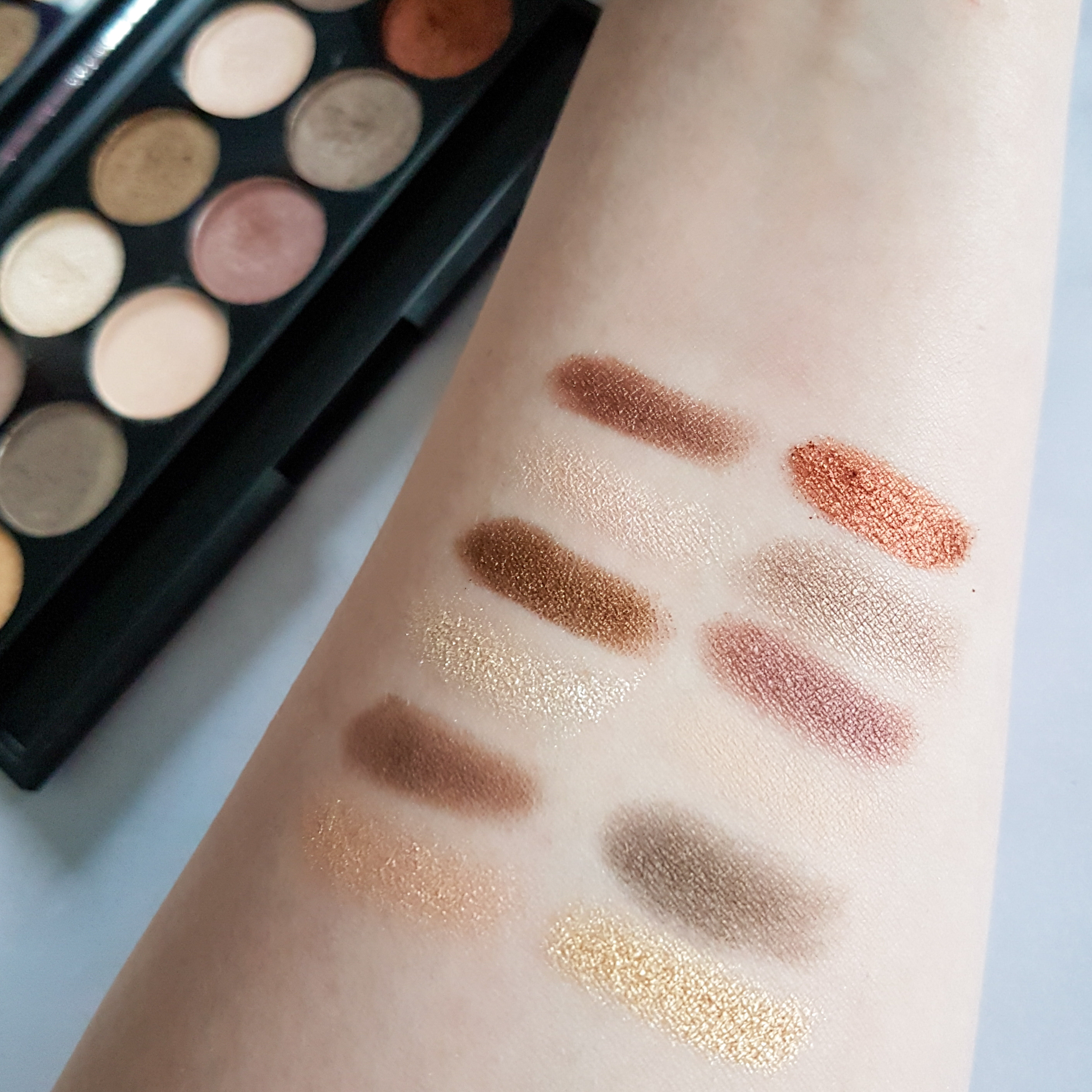 Sleek All Night Long Eyeshadow Swatches