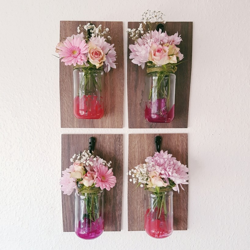 Decorative Hanging Mason Jars Wall Sconce DIY