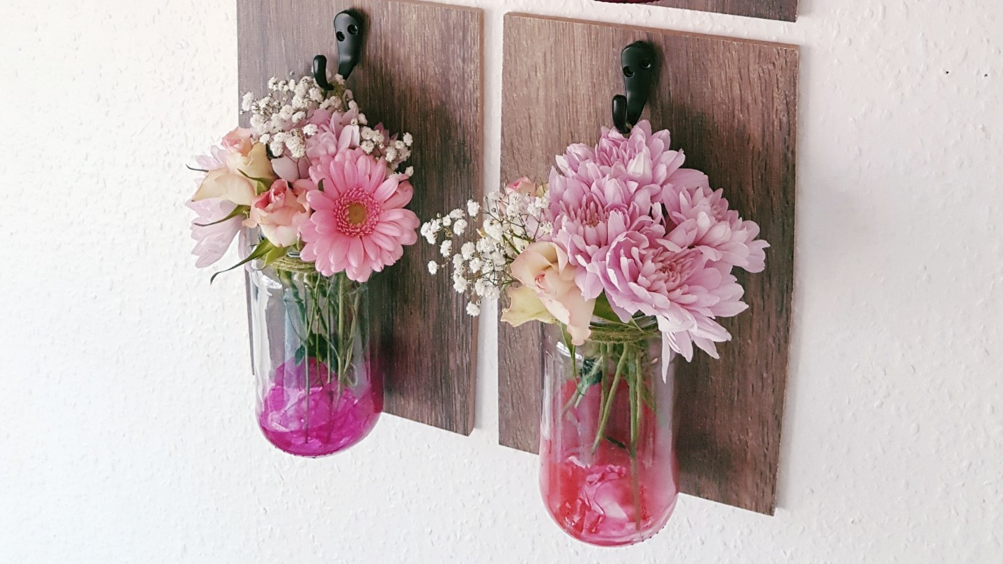 DIY: Decorative Hanging Mason Jars || Blogger Collaboration