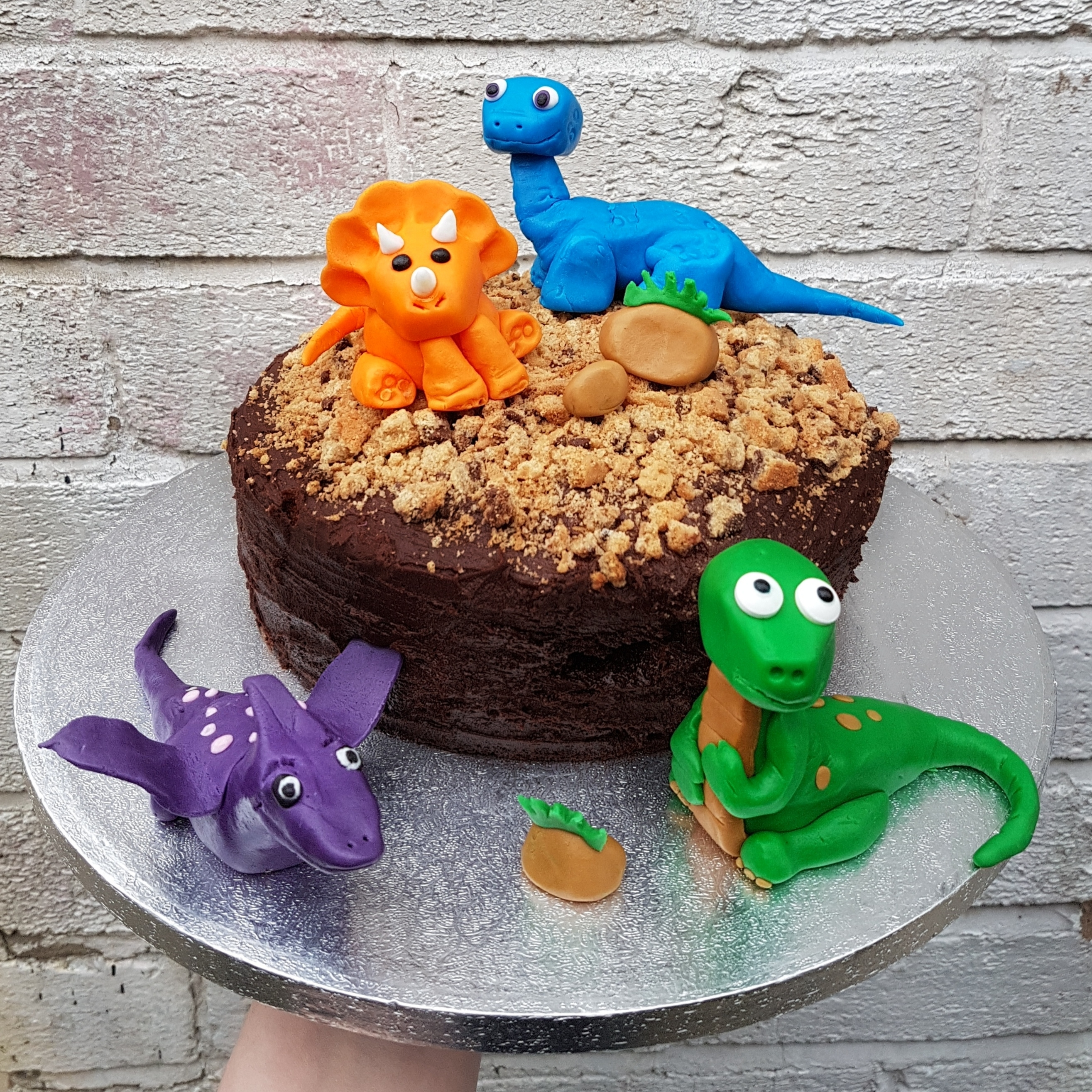 Baby Dinosaur Themed Birthday Cake