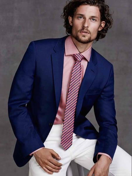 23 Grey Suit and Pink Shirt for Men - vintagetopia