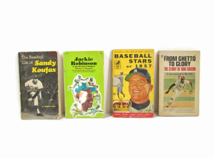 Four 1950's baseball books from Girl Pickers $16