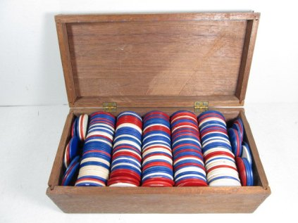 Vintage Poker Chips from Girl Pickers