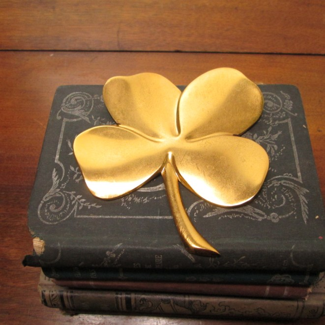 Gold four leaf clover