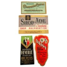 Vintage drugstore labels