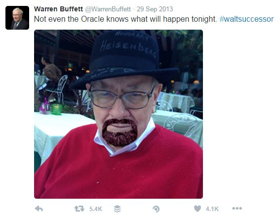 Warren Buffett Twitter - Walter White