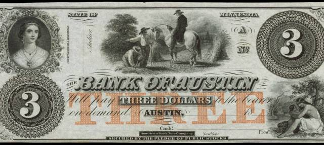 Bank of Austin Bank Note