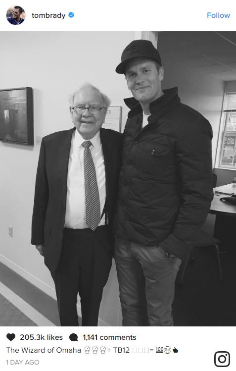 Warren Buffett and Tom Brady