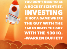 You don't need to be a rocket scientist, investing not a game where 160 IQ beats 130 IQ - Warren Buffett Quotes - Vintage Value Investing