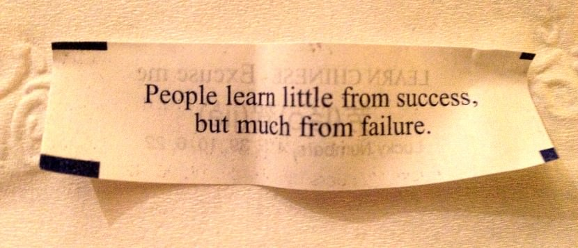 People learn little from success, but much from failure. Best Inspirational Chinese Japanese Fortune Cookie Quotes and Sayings On Life For Facebook And Tumblr