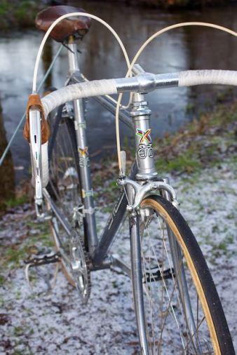 Eddy Merckx professional blue 1st generation head tube decals