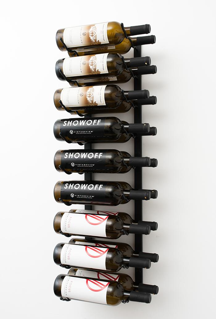 Wall Series 3 Metal Wine Rack  Bottles