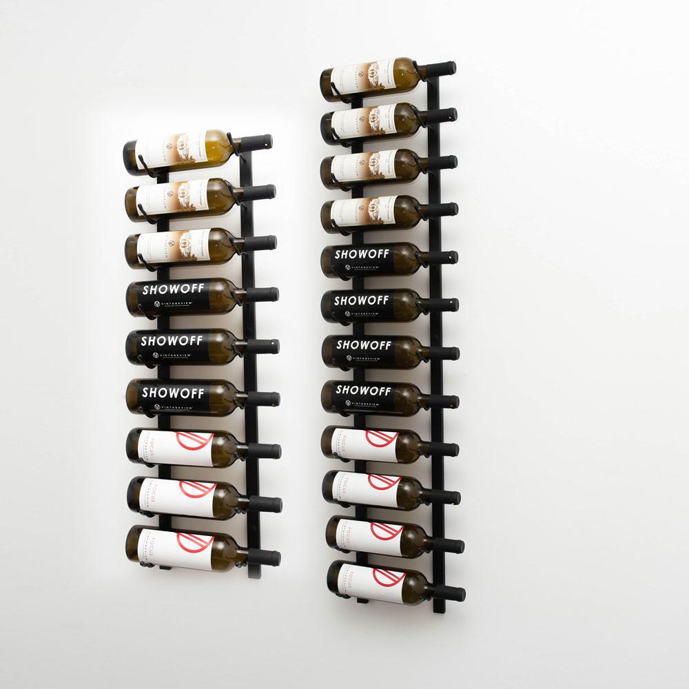 w series 7 wall mounted metal wine rack kit 21 to 63 bottles