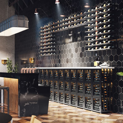 wine lockers in restaurants