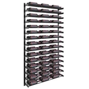 evolution wine wall 75 wall mounted wine rack kit 45 to 135 bottles